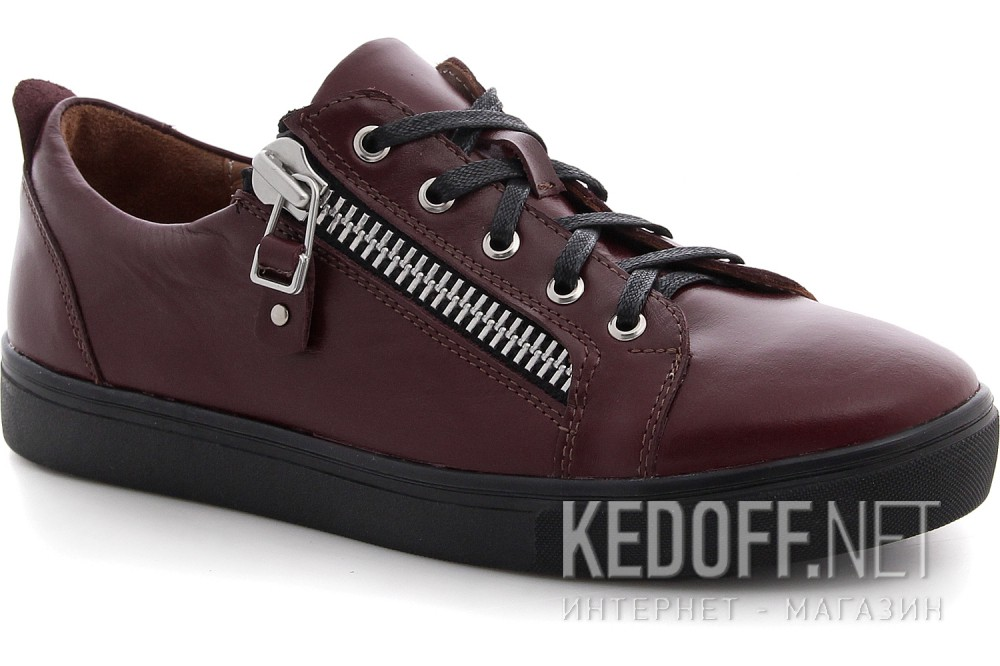 Sneakers Las Espadrillas Zipper Low 1642-260237 Marsala Leather