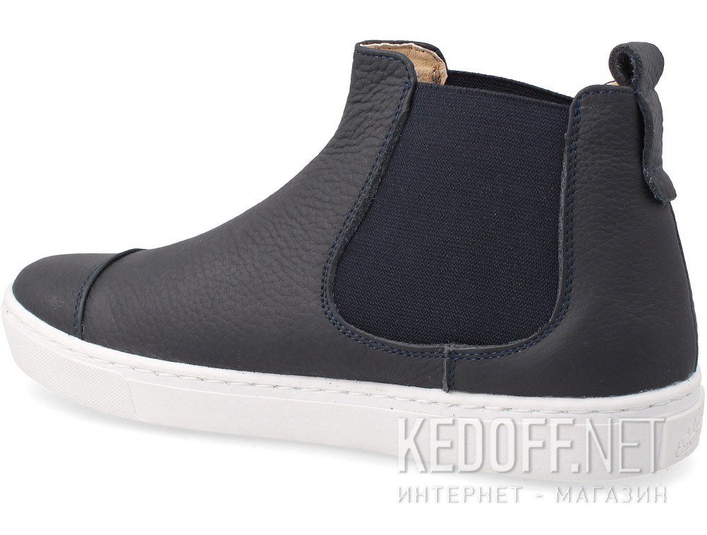 Sneakers Las Espadrillas leather Navy Chelsey 30022-89Ch