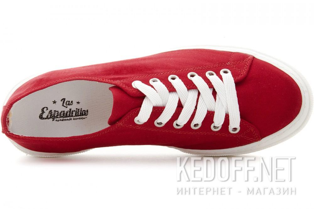 Red canvas shoes Las Espadrillas 4366-47SH Cotton