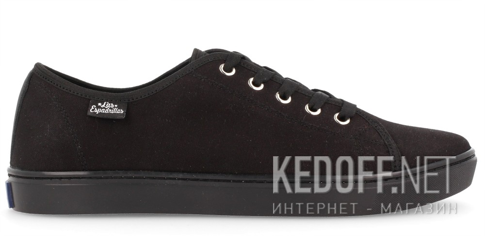 Кеди Las Espadrillas Black Canvas 5099-3310