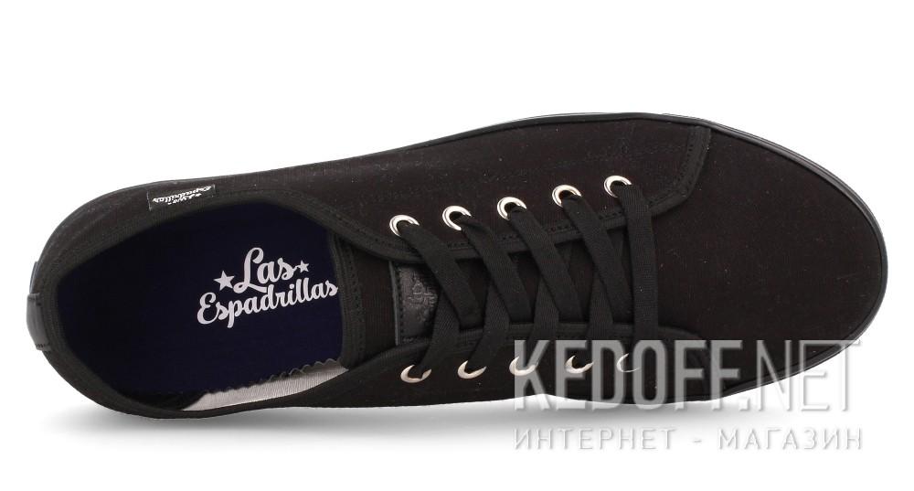 Оригинальные Мужские кеды Las Espadrillas 5099-3310   (чёрный)