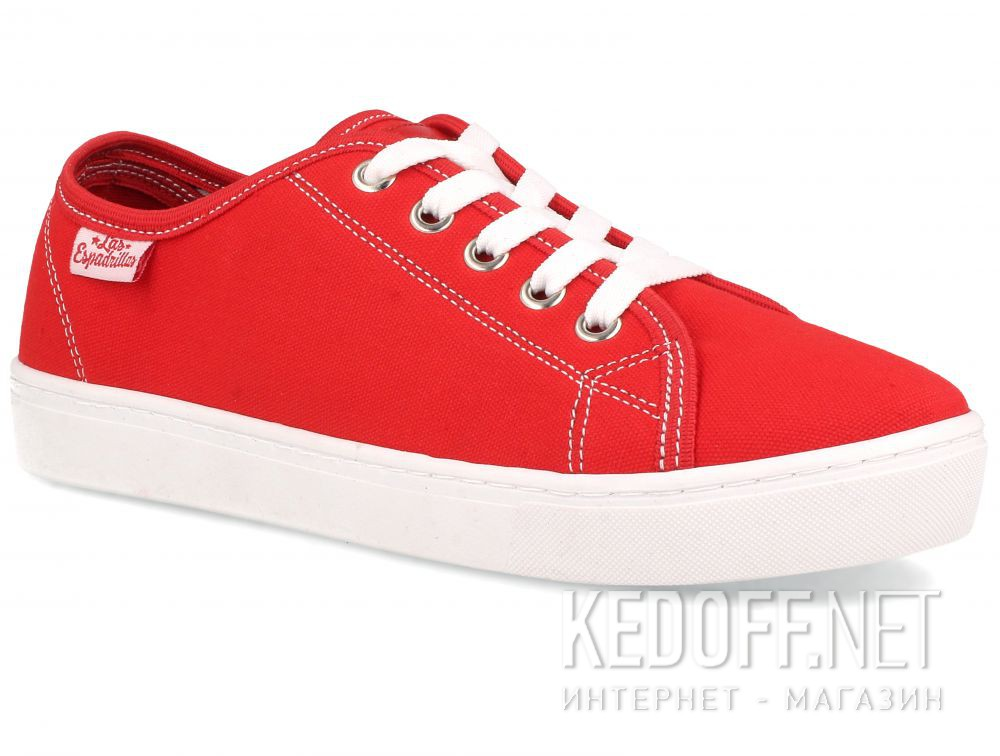 Купить Кеды Las Espadrillas 5099-47 унисекс   (красный)