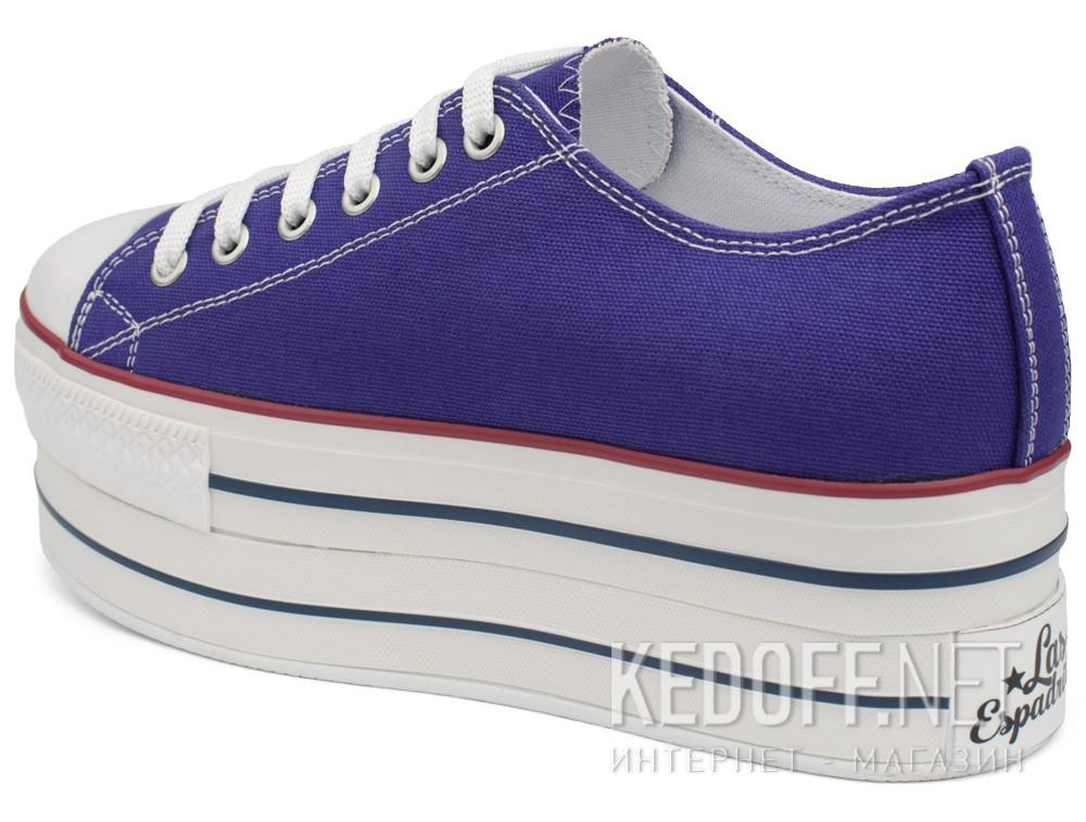 Женская текстильная обувь Las Espadrillas 6408-24   (фиолетовый) купить Украина
