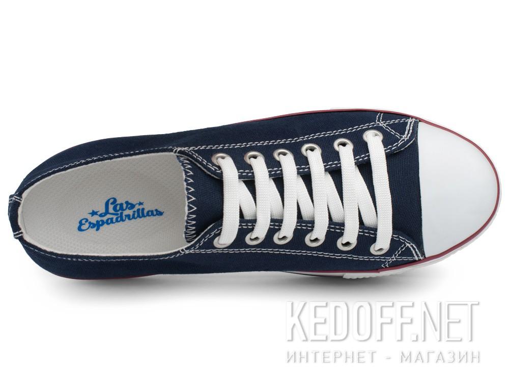 Женские кеды Las Espadrillas 6408-89   (синий) купить Киев