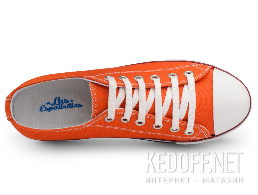 Sneakers Las Espadrillas Altezza Heel 6408-01 Orange Canvas