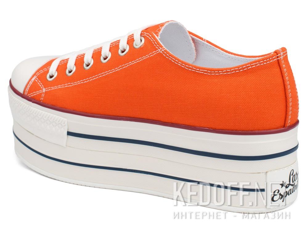 Кеди Las Espadrillas Altezza Heel 6408-01 Orange Canvas