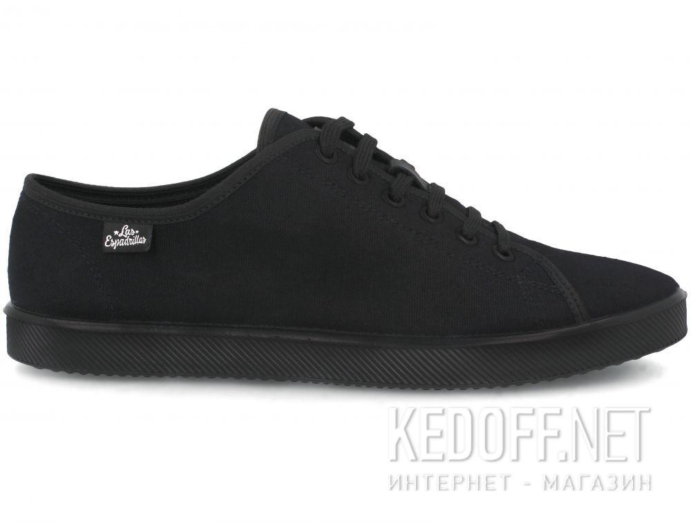 Кеды Las Espadrillas Black Slim  6099-27 купить Украина