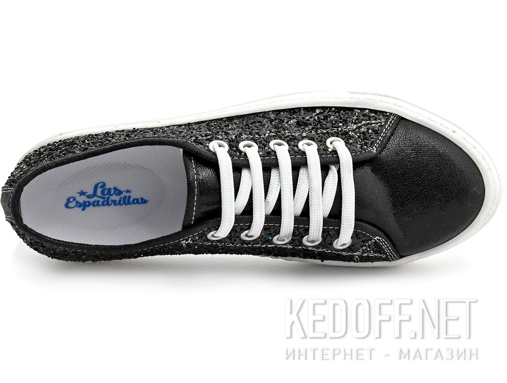 Sneakers Las Espadrillas Black Luminoso 6407-27