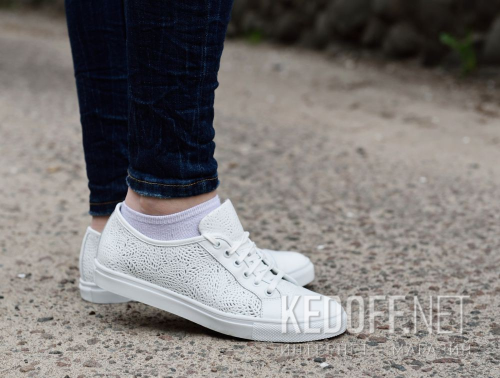 Кеды Las Espadrillas Makrame Leather Low 1542-13 все размеры