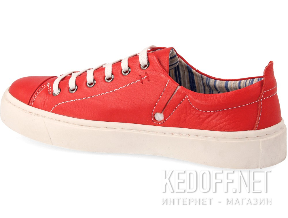 Sneakers Las Espadrillas Red Leather Low 152-47
