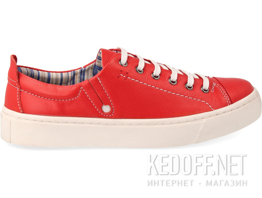 Кеди Las Espadrillas Red Leather Low 152-47