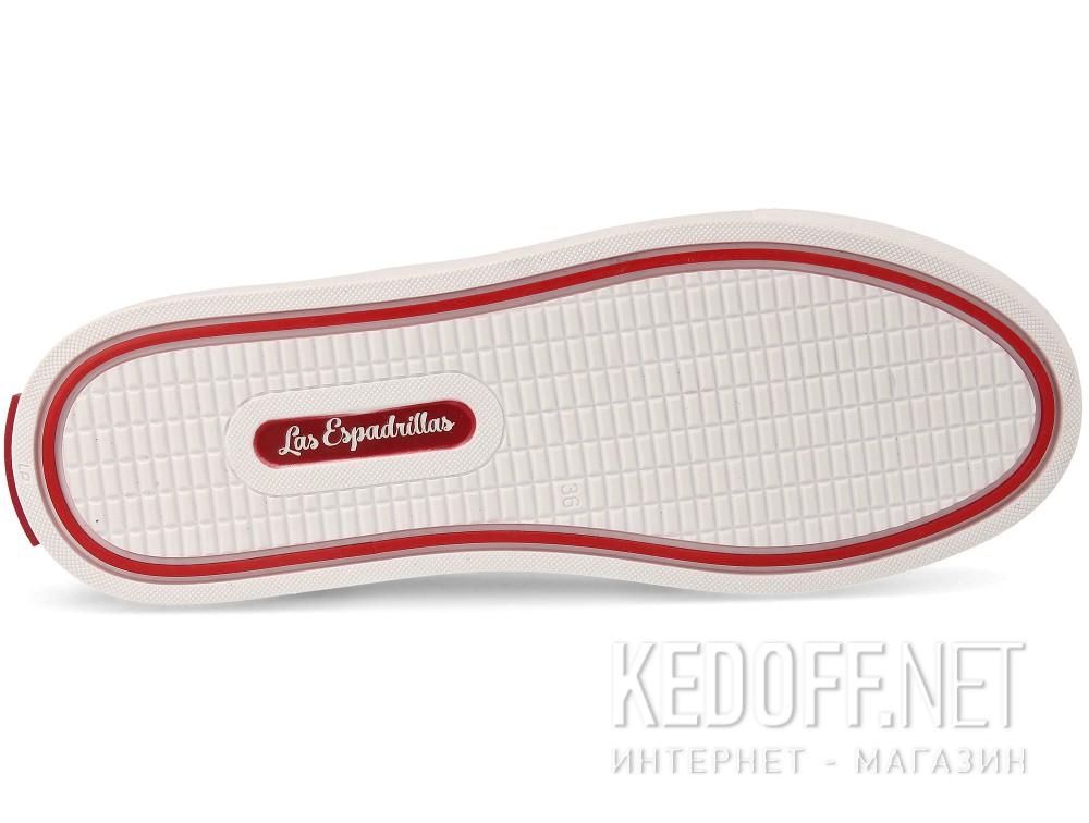 Кеды Las Espadrillas V8214-9696TL Red унисекс   (красный) описание