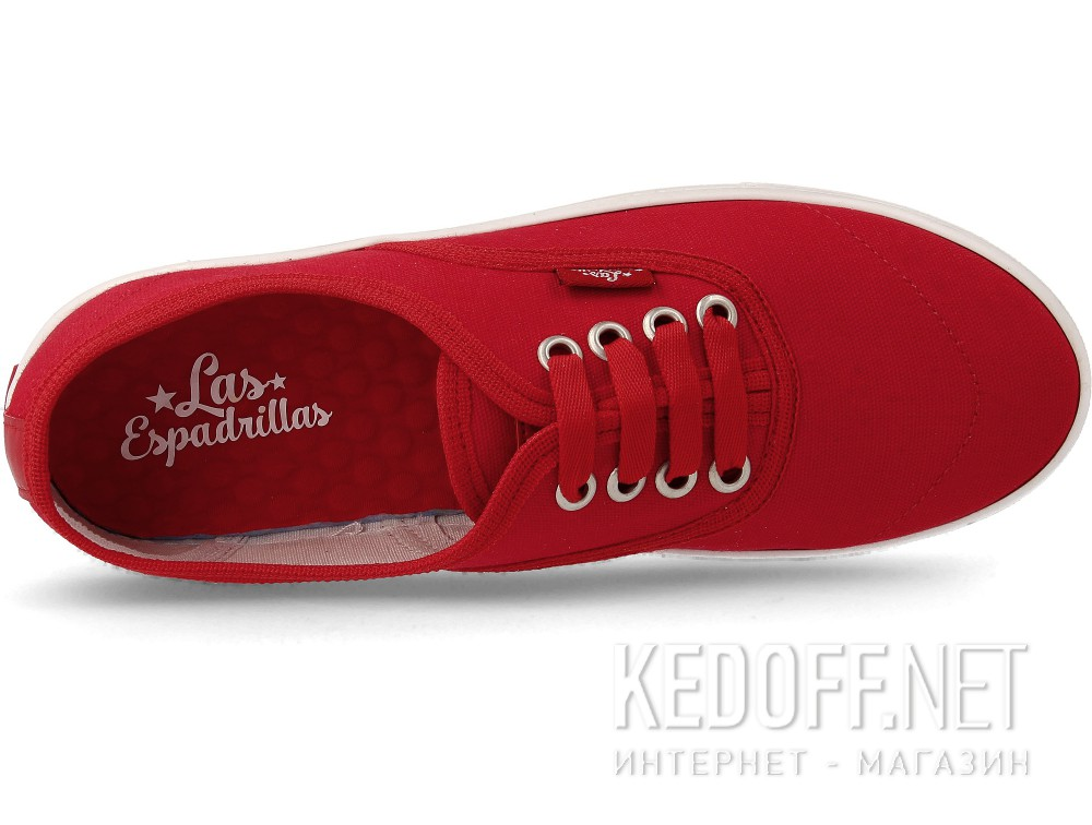 Цены на Кеды Las Espadrillas V8214-9696TL унисекс   (красный)