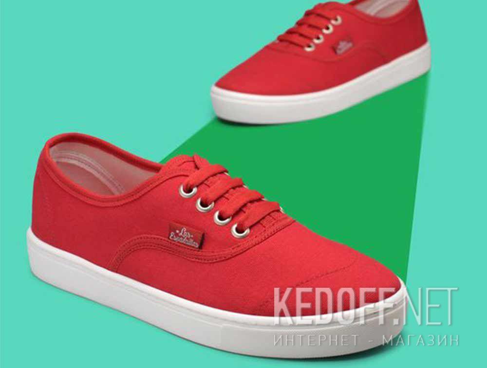 Доставка Кеды Las Espadrillas V8214-9696TL Red унисекс   (красный)