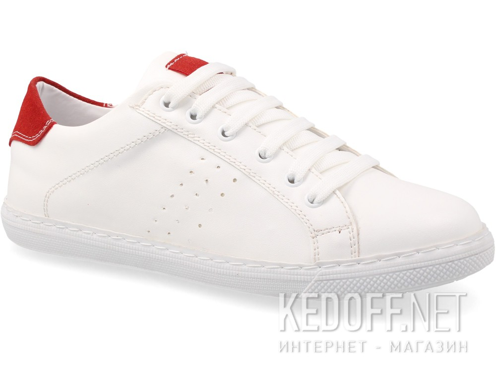 Кеды Las Espadrillas White Red Smith 20324-1347