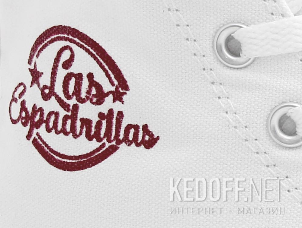 Кеды Las Espadrillas LE38-7650 унисекс   (белый) купить Киев