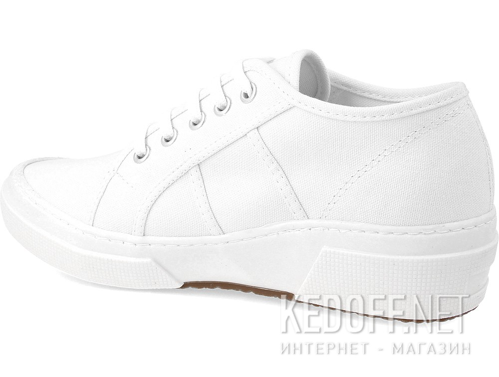 fashion sneakers Las Espadrillas 5366-13 Heel SuperGa White Canvas