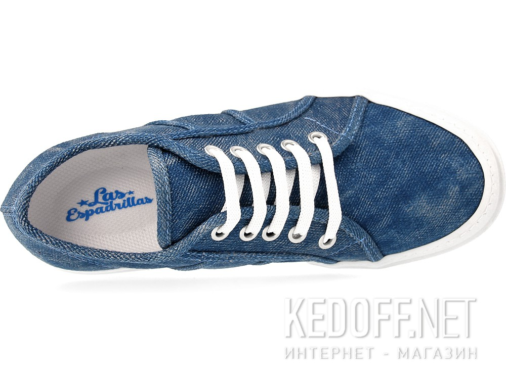 Sneakers wedge Las Espadrillas Supe Ga 5366-40 Heel Denim