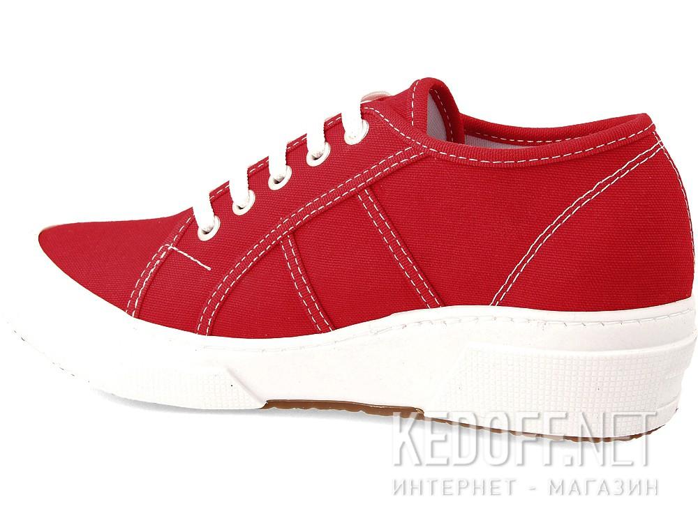 Кеди на танкетці Las Espadrillas Super Ga Heel 5366-47 Red Canvas