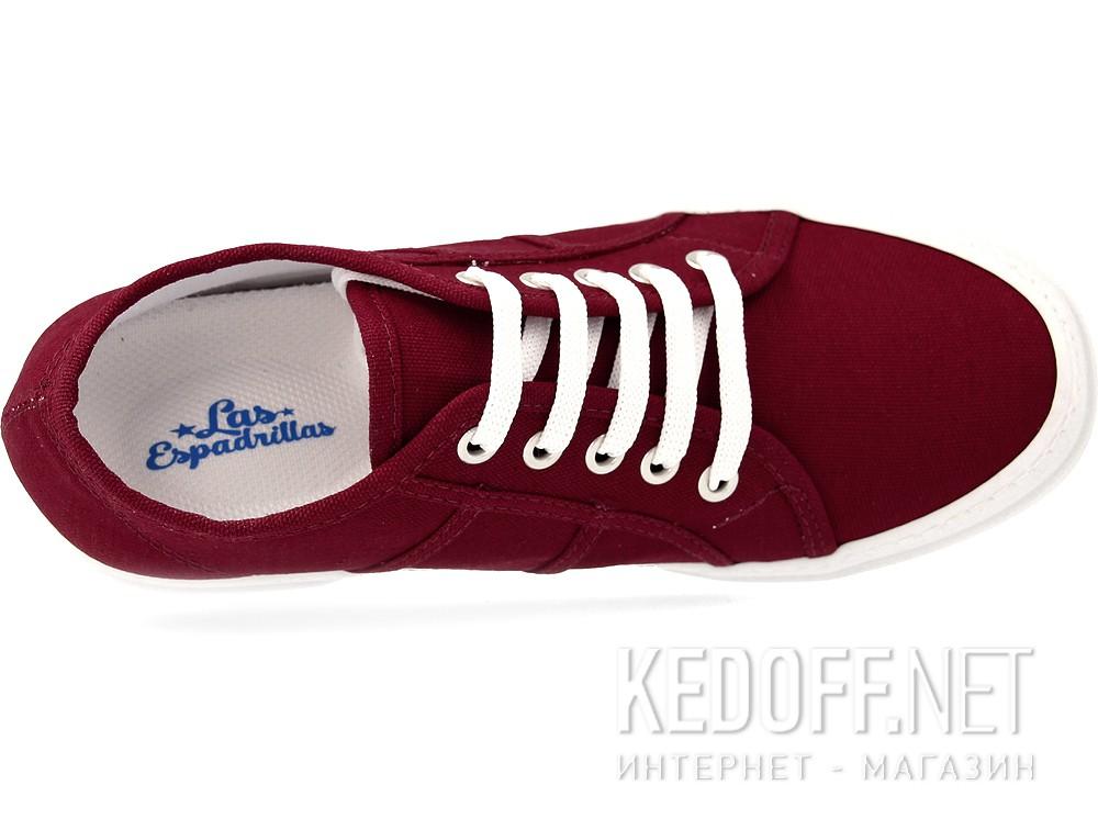 Sneakers wedge Las Espadrillas Super Ga 5366-48 Marsala Heel Canvas