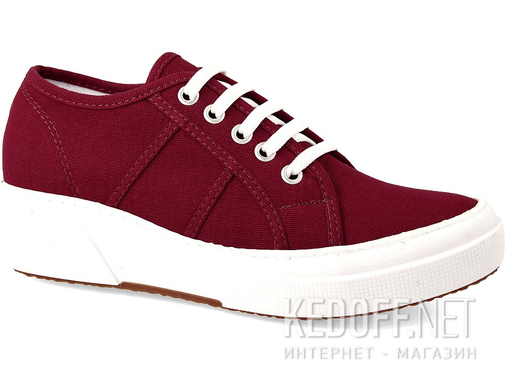 Sneakers wedge Las Espadrillas Super Ga 5366-48 Marsala Heel Canvas