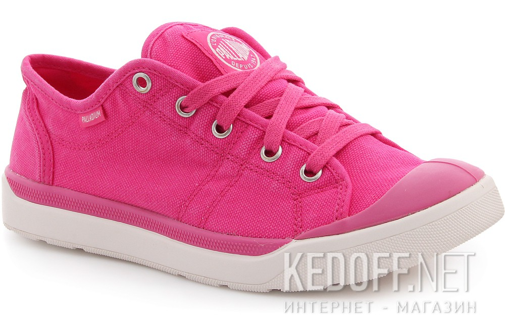 Кеды Palladium Pallarue 93698-698 Pink Canvas