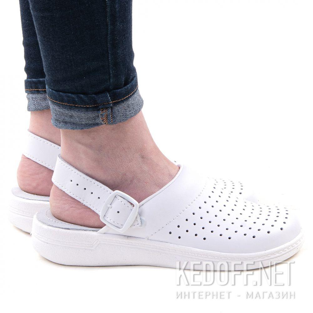 Цены на Кожаная докторская обувь Forester Sanitar 0404-13 White