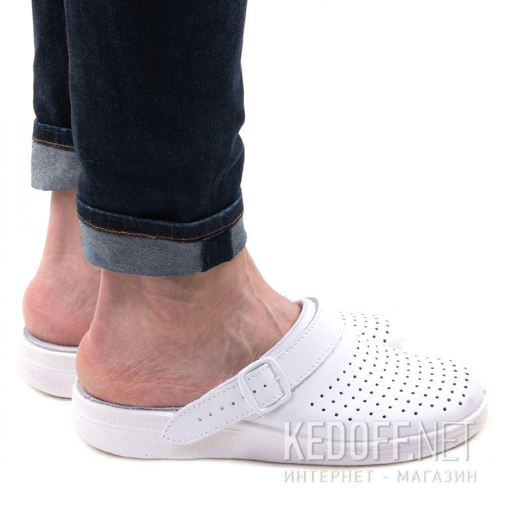 Оригинальные Кожаная докторская обувь Forester Sanitar 0404-13 White