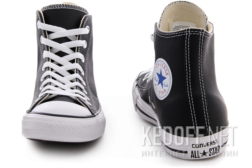 Кожанные кеды Converse I ROBOT 132170 Black leather