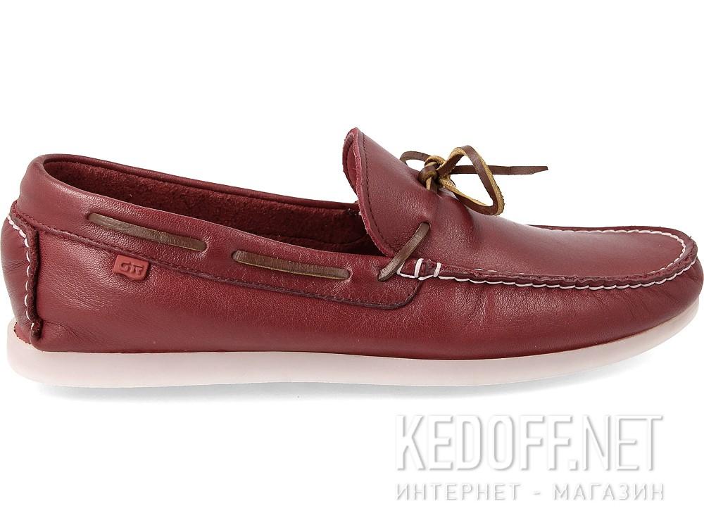 Leather moccasins Greyder Marsala 60311-48