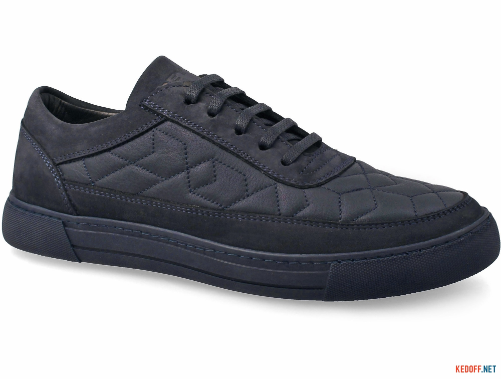 Leather sneakers Greyder 60483 The dark blue