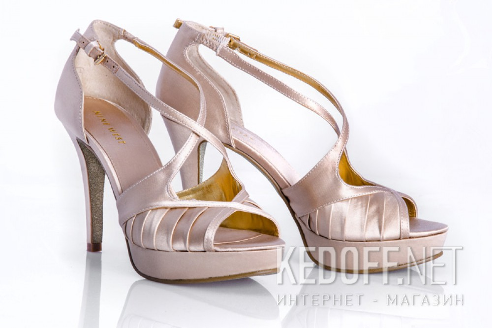Satin high-heeled sandals Nine West BumbleLion 60229401-OSPm