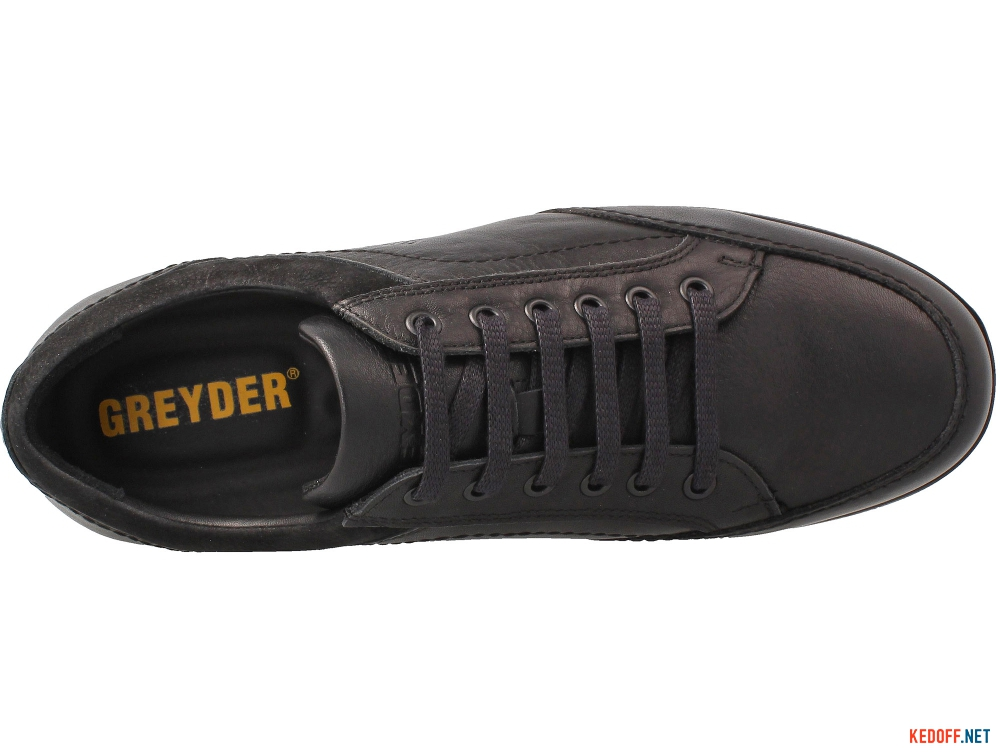 Комфортные туфли Greyder 60484 Черная кожа