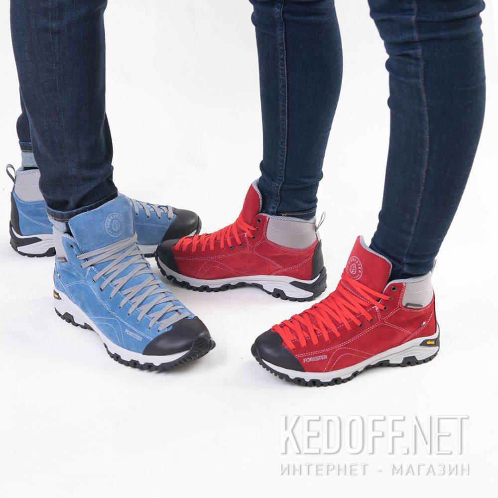 Доставка Красные ботинки Forester Red Vibram 247951-471 Made in Italy