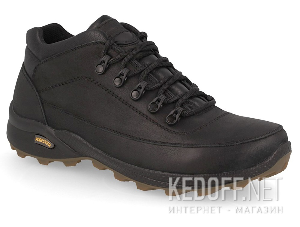 Shoes Forester Black Trek 7743-27 Black, Genuine leather