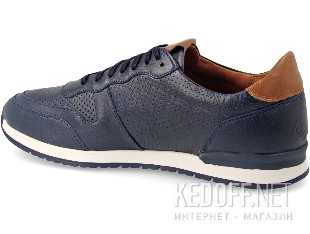 Forester Sneakers Casual Navy Leather Jazz 03-0691-002