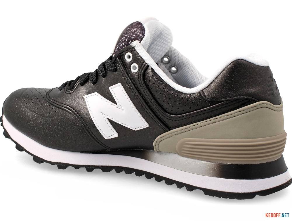 Оригинальные Женские кроссовки New Balance WL574RAA    (чёрный/серый)