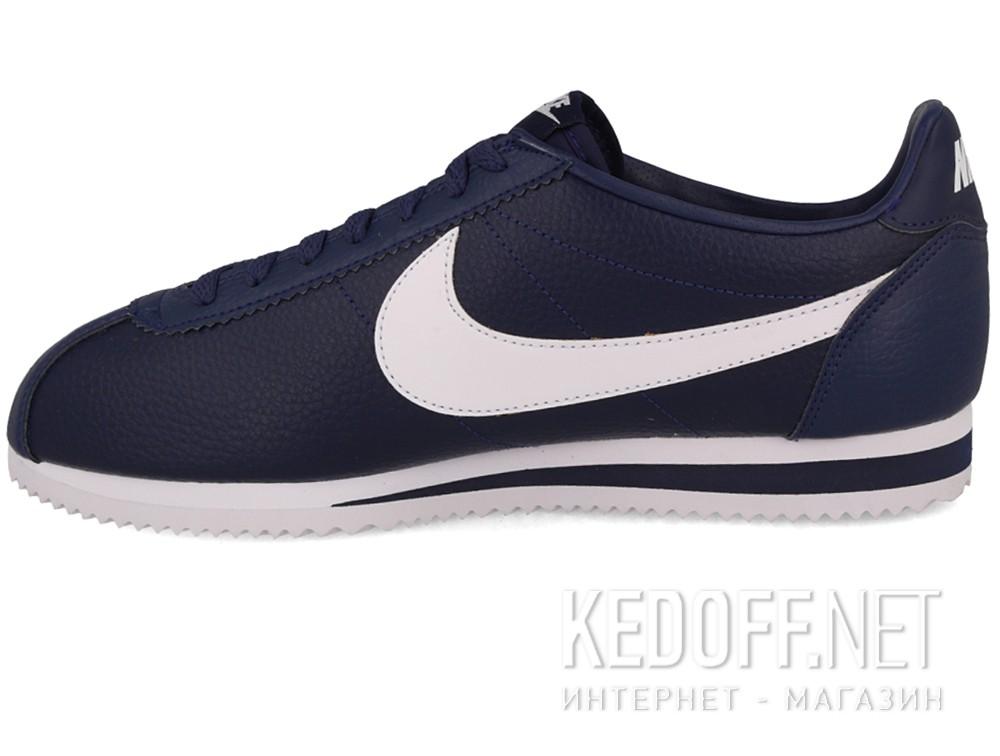 Мужские кроссовки Nike Classic Cortez Premium Leather 749571-414   (тёмно-синий) купить Украина