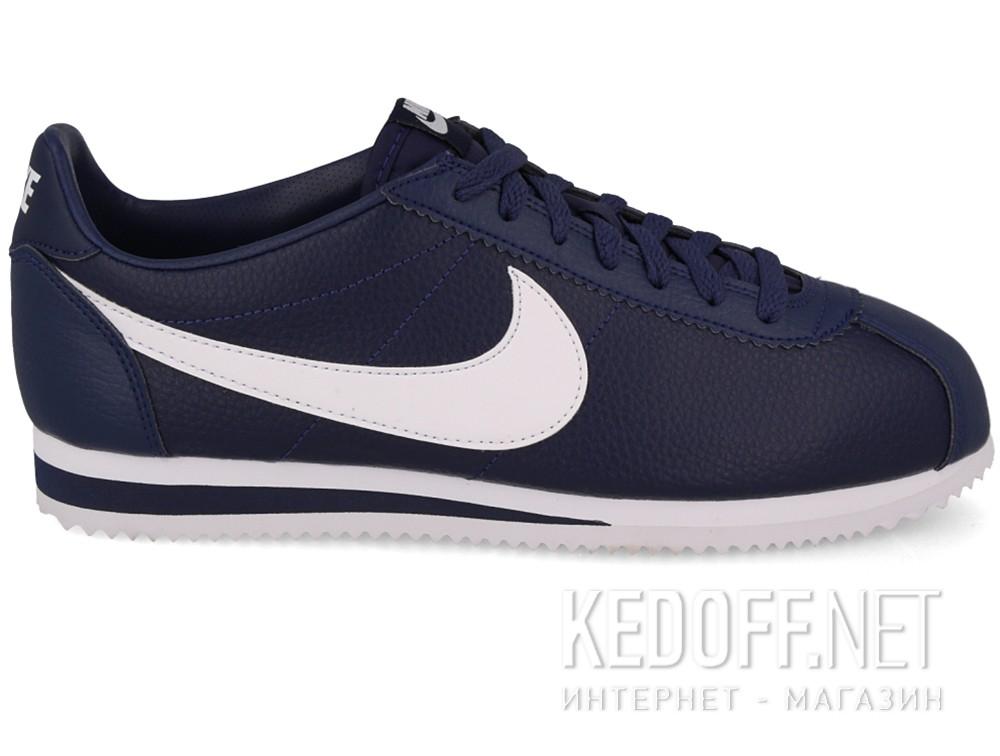 Мужские кроссовки Nike Classic Cortez Premium Leather 749571-414   (тёмно-синий) купить Киев