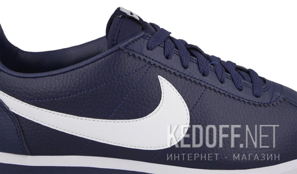 Оригинальные Мужские кроссовки Nike Classic Cortez Premium Leather 749571-414   (тёмно-синий)