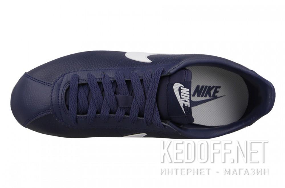 Мужские кроссовки Nike Classic Cortez Premium Leather 749571-414   (тёмно-синий) описание
