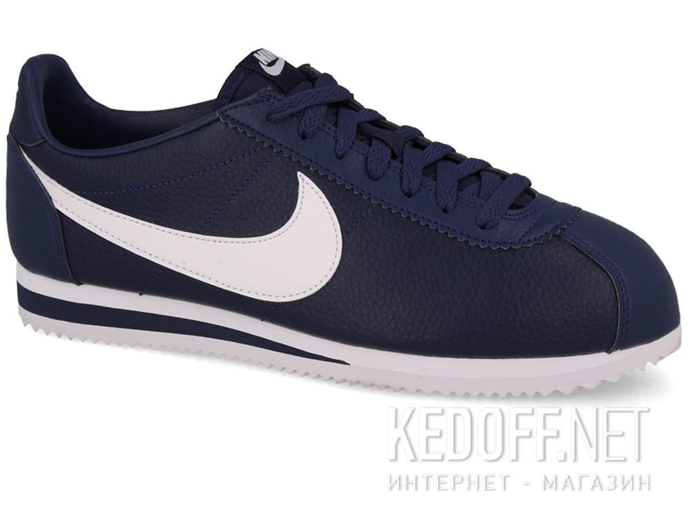 Купить Мужские кроссовки Nike Classic Cortez Premium Leather 749571-414   (тёмно-синий)