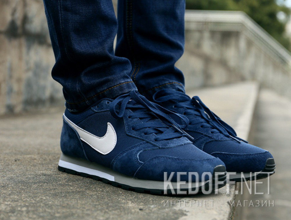 Mens running shoes Nike Md Runner Suede 749794-410 (dark blue) все размеры.  1  2 b1d02dd07f3