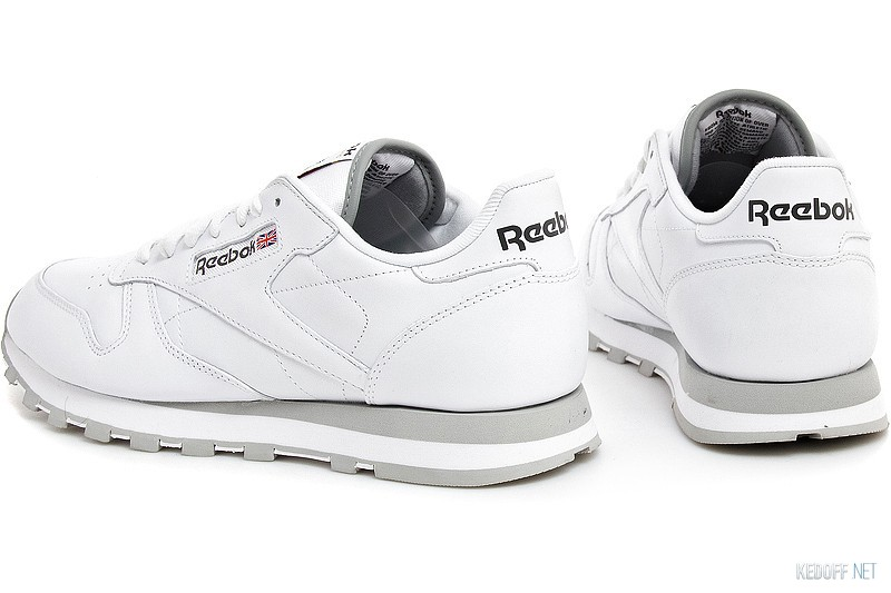 Shop Sneakers Reebok Classic Leather 2214 White Grey at Kedoff.net ... 2bf8051647389