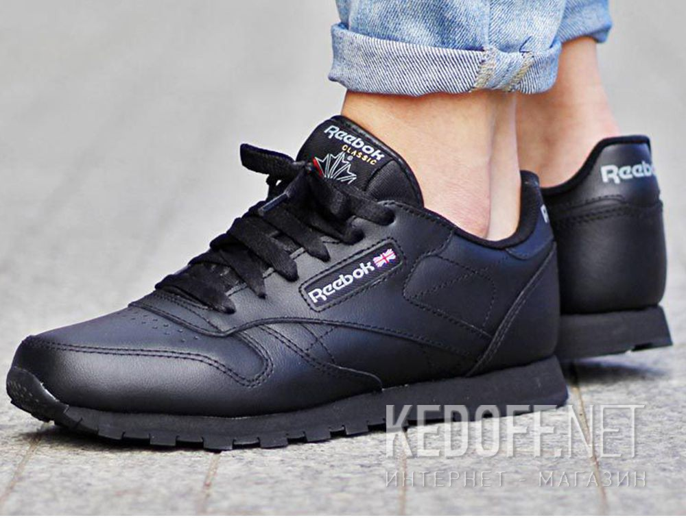 utterly stylish unique design pick up Кроссовки Reebok Classic Leather 50149 Чёрная кожа