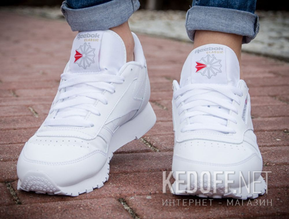 88bf92eefd25c Shop Sneakers Reebok Classic Leather 50151 unisex (White) at Kedoff ...
