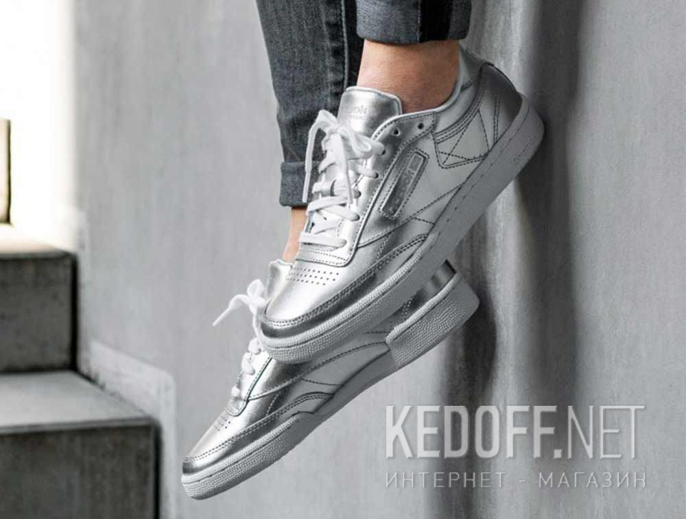 df4112a46e9 Shop Shoes Reebok Club C 85 S Shine   Silver White cm8686 at Kedoff ...