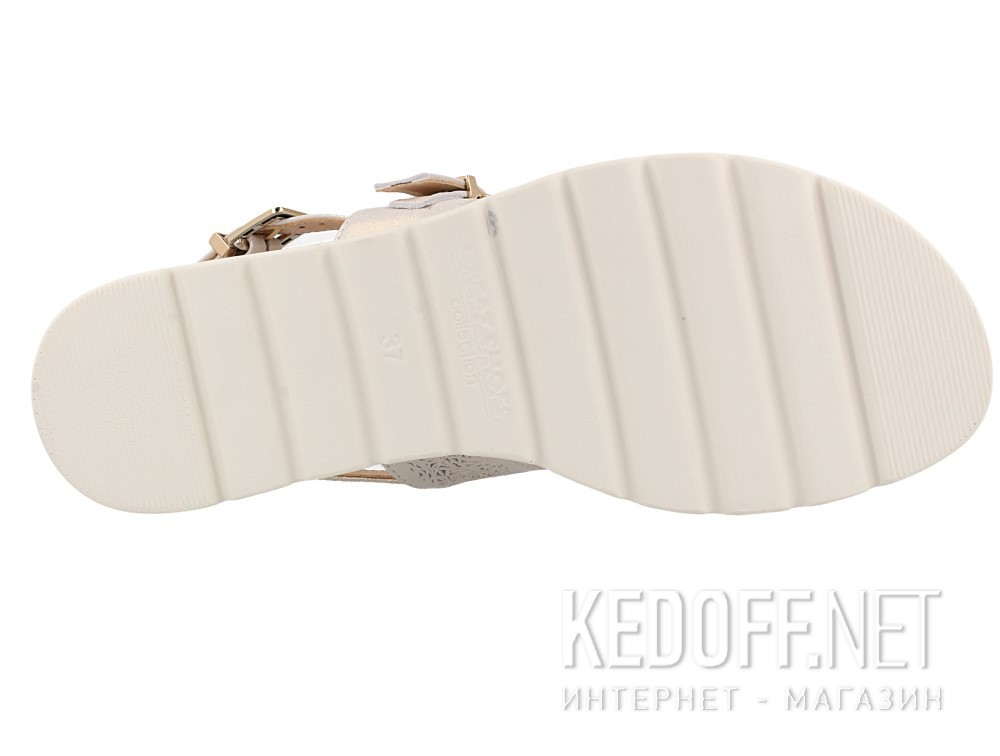 Женский босоножки Las Espadrillas 020-F-13    (бежевый/белый) описание