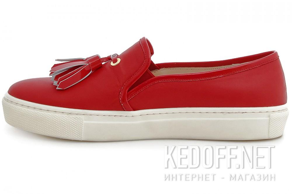 Мокасины Las Espadrillas 03534-47 унисекс   (красный) купить Украина