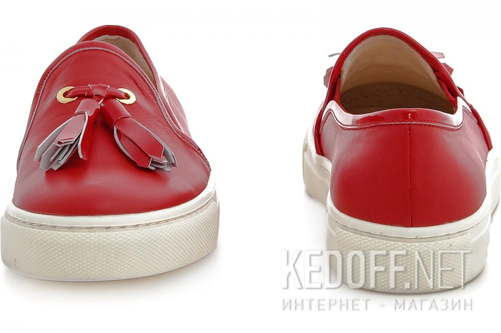 Мокасины Las Espadrillas 03534-47 унисекс   (красный) купить Киев